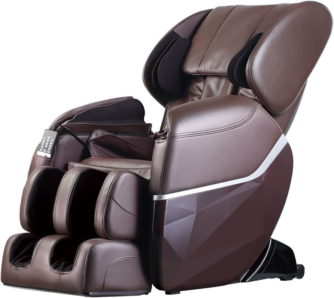 Zero Gravity Full Body Electric Shiatsu UL Approved Massage Chair Recliner with Built-in Heat Therapy and Foot Roller Air Massage System Stretch Vibrating...