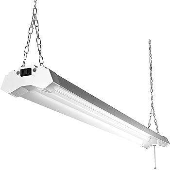 4ft Led Utility Shop Lights For Garage 40w Bright Plug In