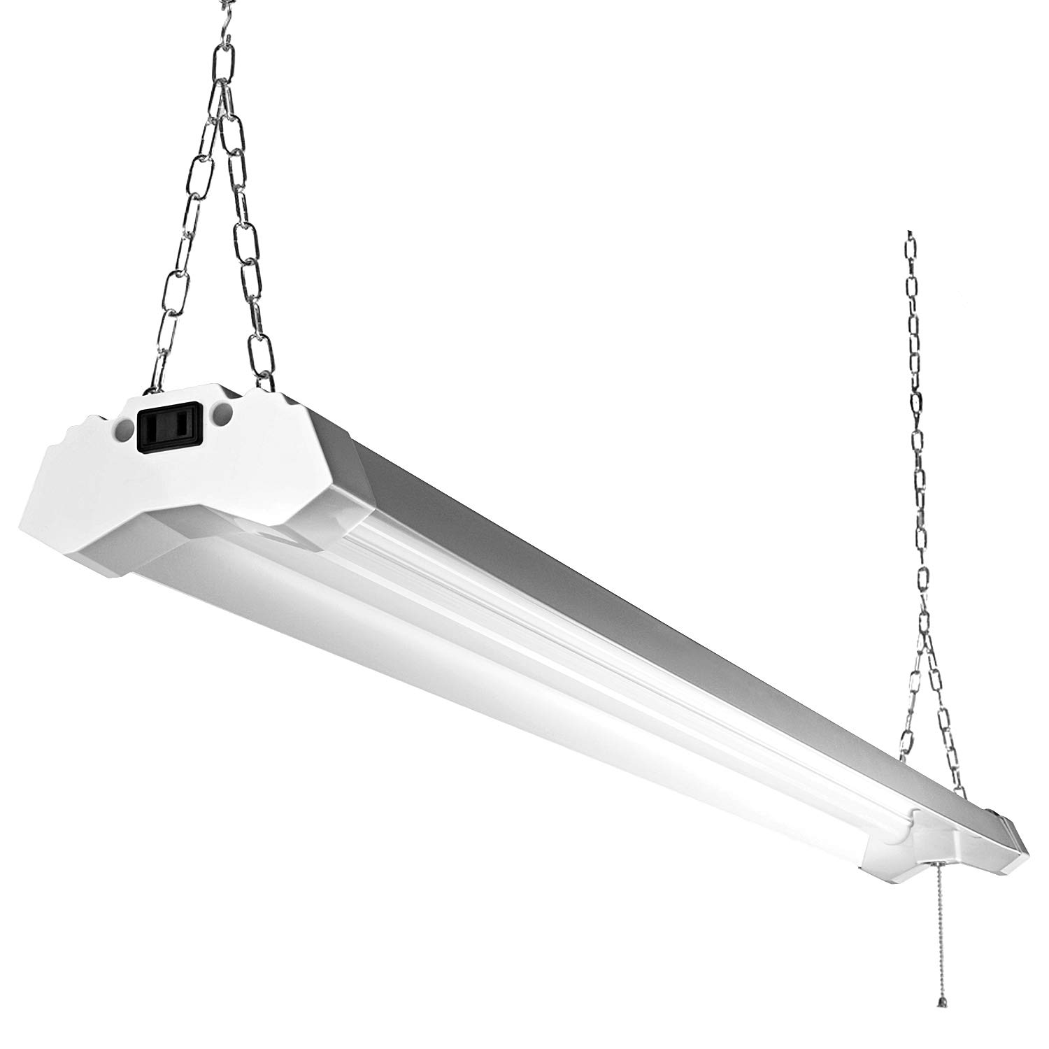 Linkable led utility shop light 4ft 4800 lumens super bright 40w 5000k daylight etl certified led garage lights fixture durable led fixture with pull