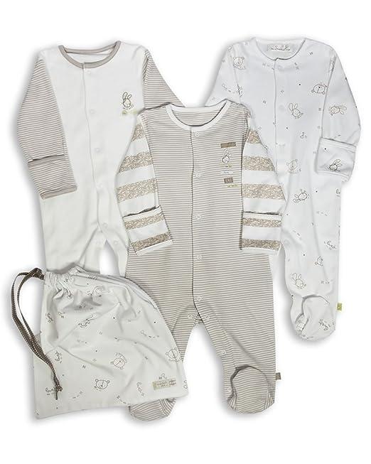 The Essential One - Pijama para bebé - Paquete de 3 - Recién nacido ESS97