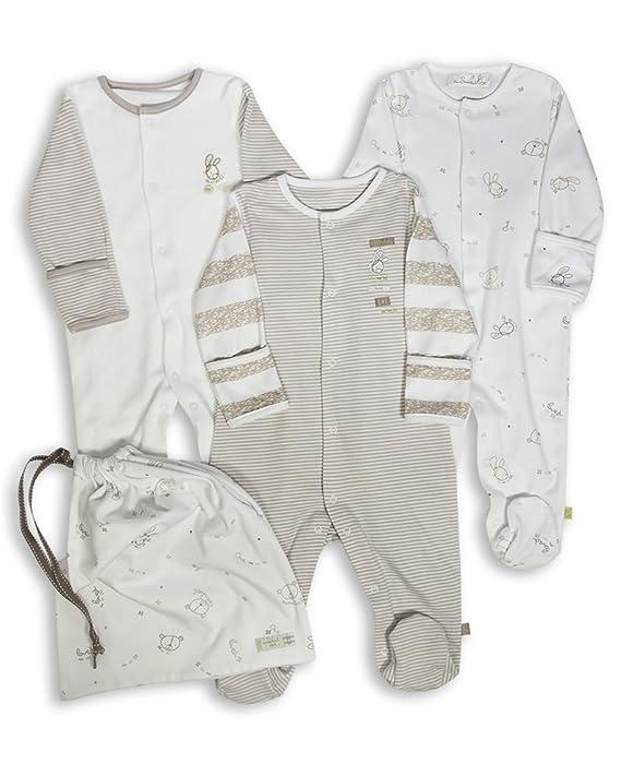 The Essential One Baby 3 Pack Footie Sleeper 6 - 9 Months Beige