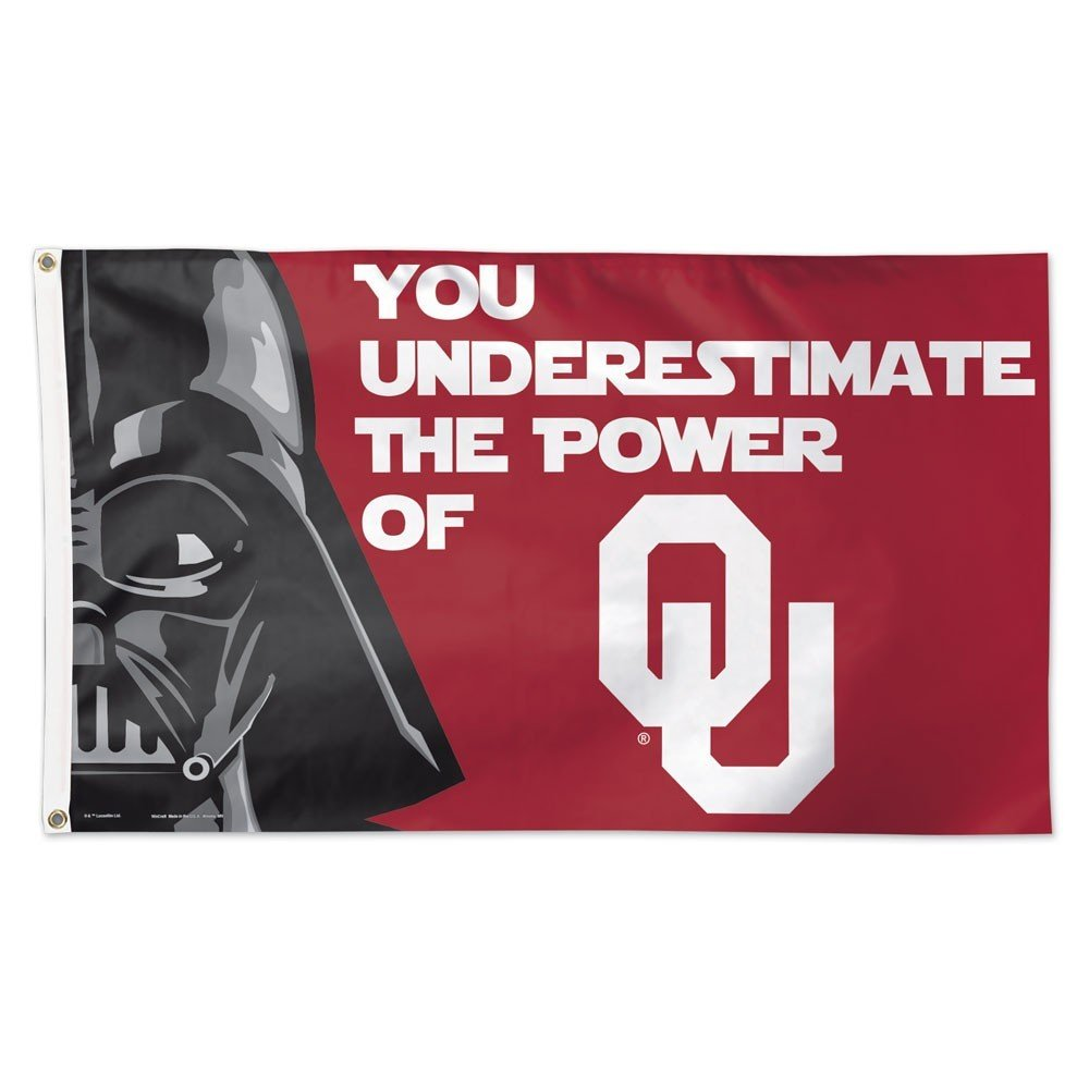 Wincraft NCAA University of Oklahoma 15934115 Deluxe Flag, 3 'x 5'