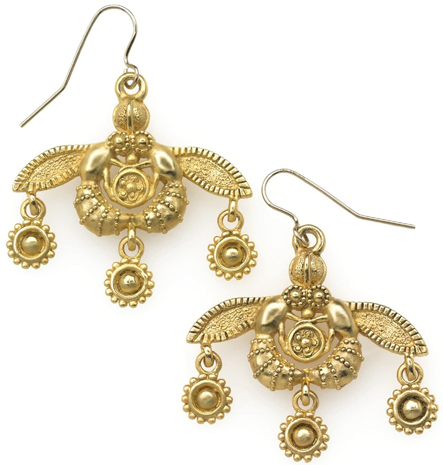 Amazon.com Reproduction of the Greek Minoan Bees Earrings From Our Museum Collection Dangle Earrings Jewelry  sc 1 st  Amazon.com & Amazon.com: Reproduction of the Greek Minoan Bees Earrings From Our ...