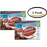 PACK OF 2 - BOOST GLUCOSE CONTROL Nutritional Drink, Chocolate Sensation, 8 fl oz Bottle, 12 Pack