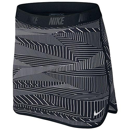 Nike Flip Print Golf Skort 2016 Womens Black/Metallic Silver X-Small