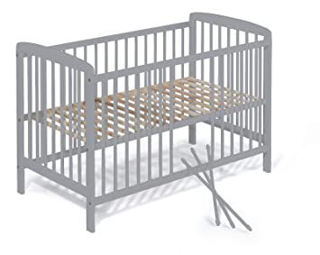 Koko Babybett Beistellbett Babybett Gitterbett Julia 120x60 Grau Amazon De Baby