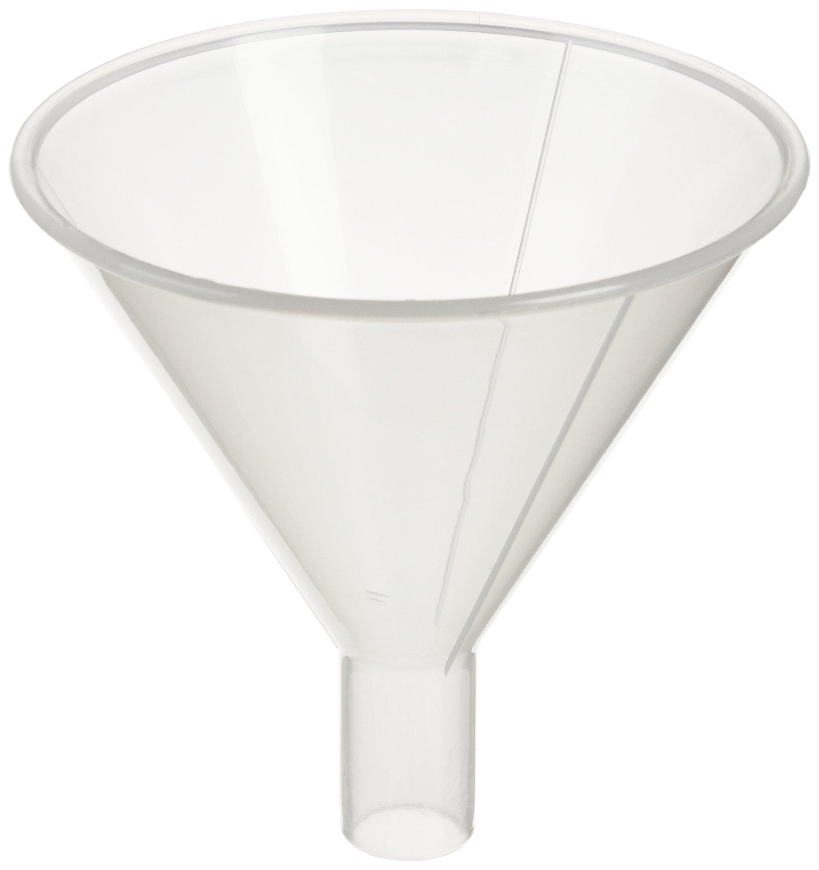 Globe Scientific 600167 Polypropylene Powder Funnel, 80mm Funnel Size, 80mm Top Diameter (Pack of 20)