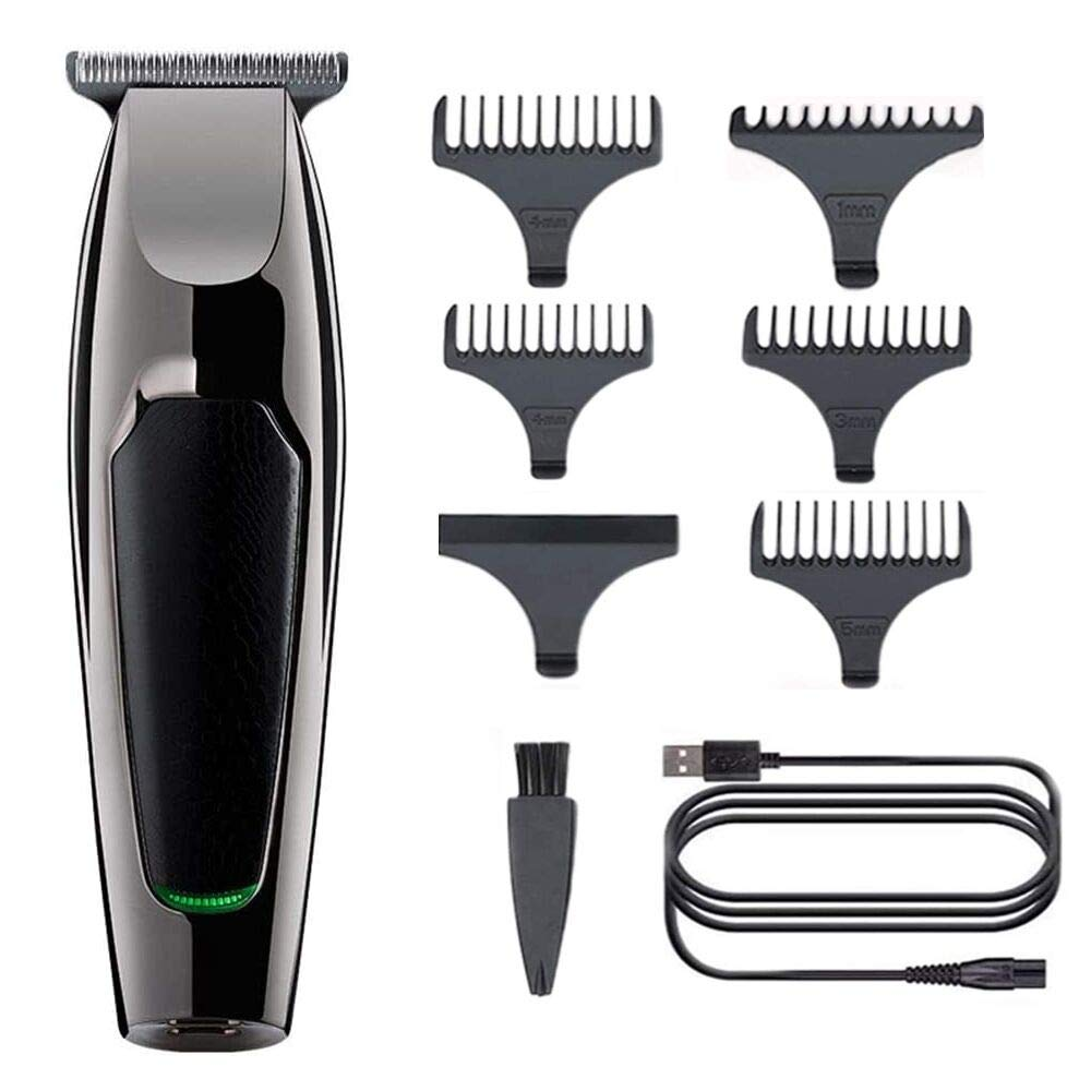 Electric Hair Clipper, Anself USB Rechargeable Low Noise Cordless Shaver Grooming Powerful Motor Barber Electric Trimmer Cutting Machine with 5pcs Limit Combs,1pcs Cleaning Brush