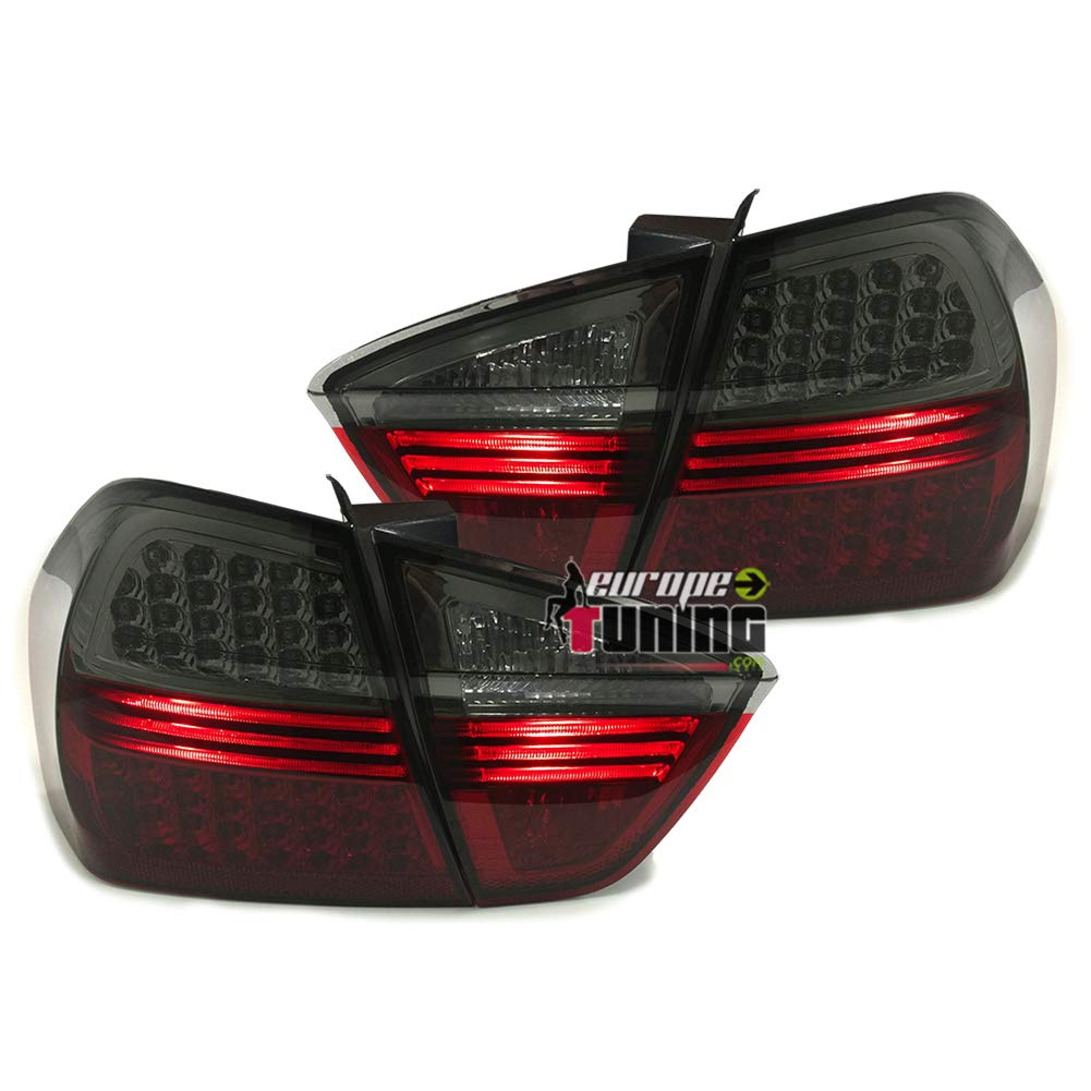europetuning 00331 FEUX ROUGES NOIRS A LEDS SERIE 3 E90 BERLINE PHASE 1 2005-2008