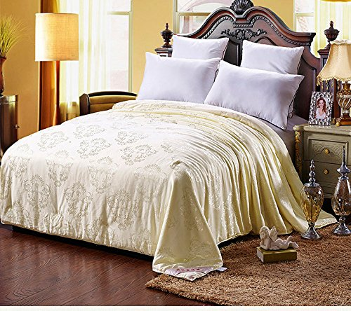 Shi Shang Pure Mulberry Silk Filled Comforter Silk Comforter Silk Duvet Silk Quilt Yellow