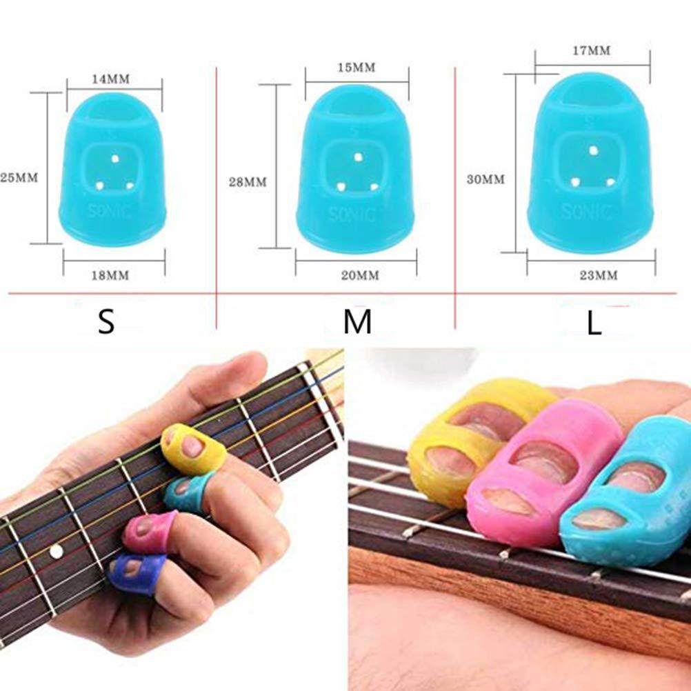 Mallalah Accessoire Guitare Prot/ège-Doigts 12PCS pour Guitare Acoustique Ukul/él/é Guitare /Électrique Basse Protection pour D/ébutants des Instruments