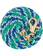 """Weaver Leather Poly Lead Rope with Brass Plated Bull Trigger Snap, Navy/Black/Tan, 5/8"""" x 10'"""