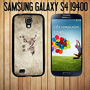 Japanese Cherry Blossom Tattoo Design Custom made Case/Cover/skin FOR Samsung Galaxy S4-Black - Rubber Case ( Ship From CA)