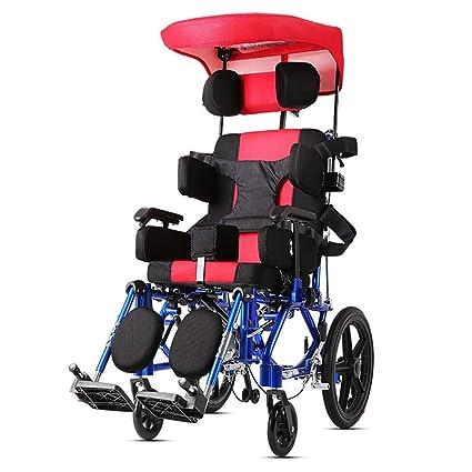 DPPAN Drive Medical Transport Silla de ruedas Plegable ligero para niños, reposapiés elevadores de aleación