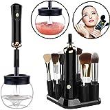 Limpiador de Brochas de Maquillaje,Pinceles de Maquillaje Limpieza y Secado Automático con 8 Adaptadores de Silicona 360 Grados Limpieza y Seca Pinceles en Segundos