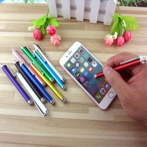 Stylus, iBart Mesh Fiber Tip Series Precision Stylus Pens for Touch Screens Devices, iPhone, iPad, Kindle, Tablet (10 Colors)