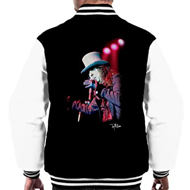 5f8f5b2ac57 Tony Mottram Official Photography - Alice Cooper Top Hat Performing Men s  Varsity Jacket