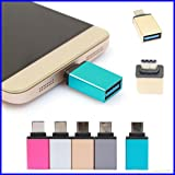 Metal USB 3.1 Type C OTG Adapter Male to USB 3.0 A Female Converter Adapter OTG Function - C OTG Supported Device - COLOR MAY VARY