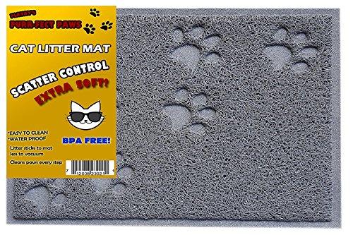 BPA Free Premium Cat Litter Mat - Food Mat - Small- Medium- Best Quality Cat Litter Mat Catcher Trapper with Scatter Control - Waterproof Litter Mat-Odor Repelling- Soft on Cats Paws