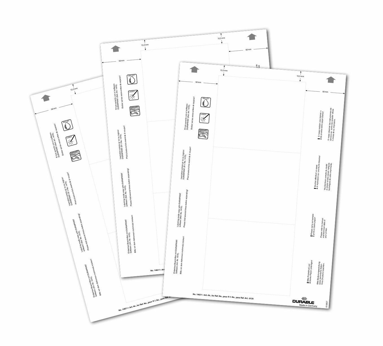 80 Schilder im A6 Format wei/ß Durable 142002 Einsteckschilder Badgemaker