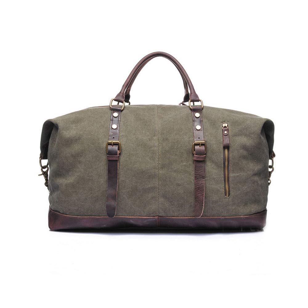 スタイリッシュなシンプルさ大容量旅行キャンバスバッグポータブルキャリングケースメッセンジャーダッフルバッグ 旅行用ハンドバッグ (色 : アーミーグリーン)  アーミーグリーン B07QK4HYPW