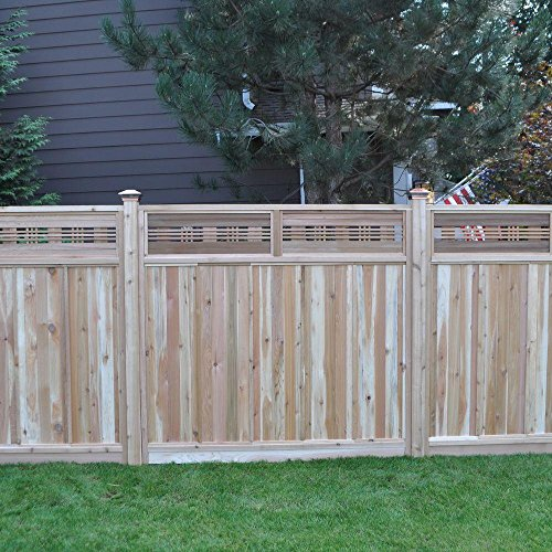 (Signature Development 6 ft. H x 6 ft. W Western Red Cedar Horizontal Lattice Top Fence Panel)
