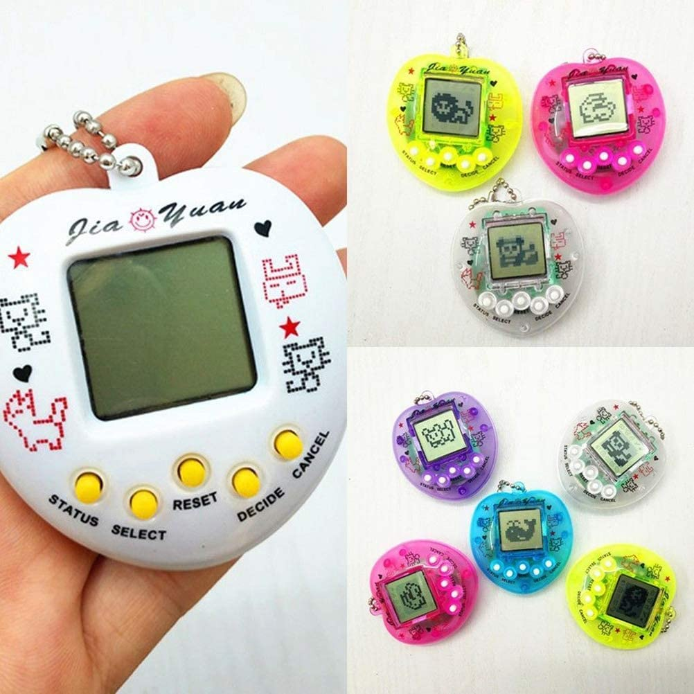 WINBST Tamagotchi Electronic Game Jump Egg Drum Toy Electronic Tiny Pet Toy Mini Pet Funny Virtual Cyber Game Machine