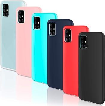 Leathlux 6 × Coque Samsung Galaxy A71 Housse Silicone Souple TPU Étui Protection Bumper Case Cover Coque pour Samsung Galaxy A71 Blanc ...