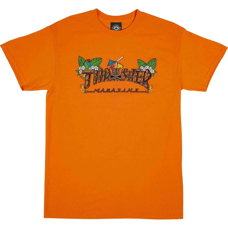 Thrasher Tiki Ss Lsafety Orange Shirts