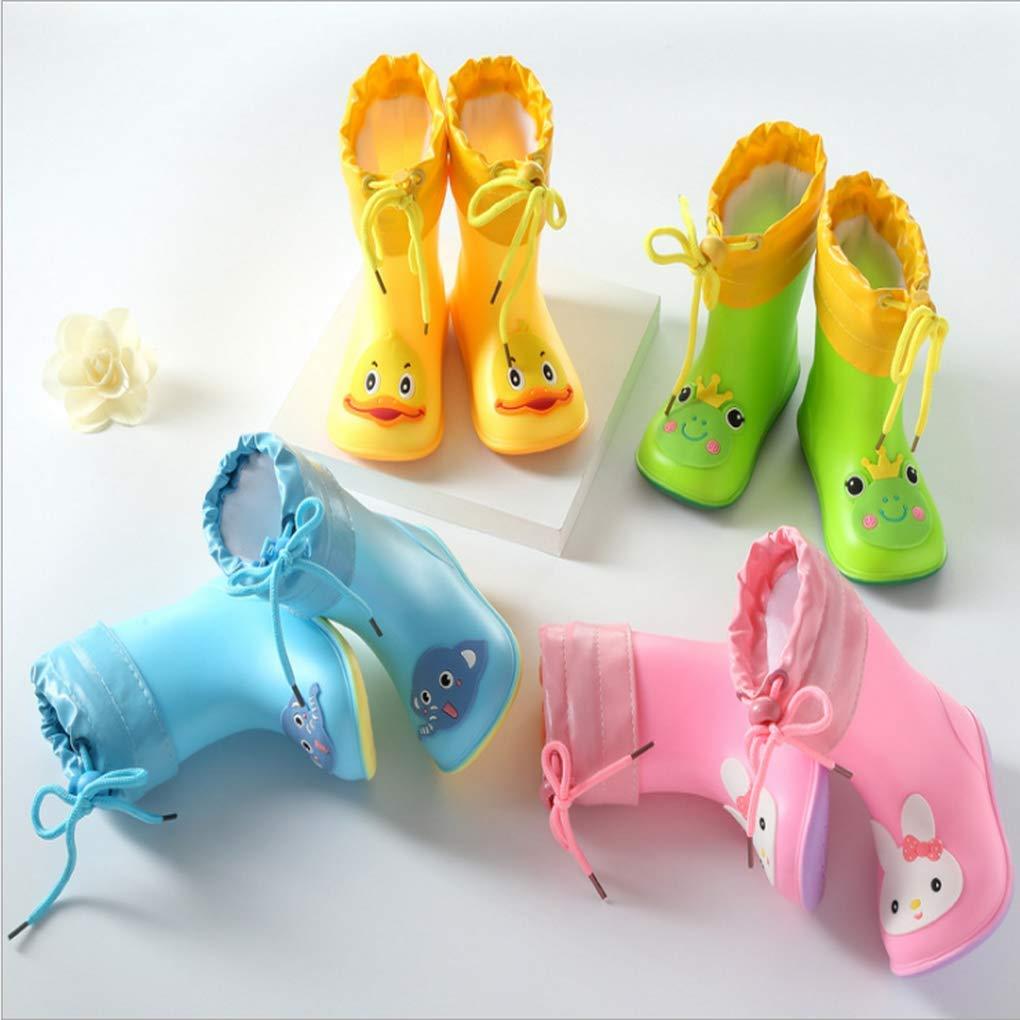 XYSSWW Kids Rain Boots Waterproof Cartoon Rubber Booties Rain Shoes Water Shoes