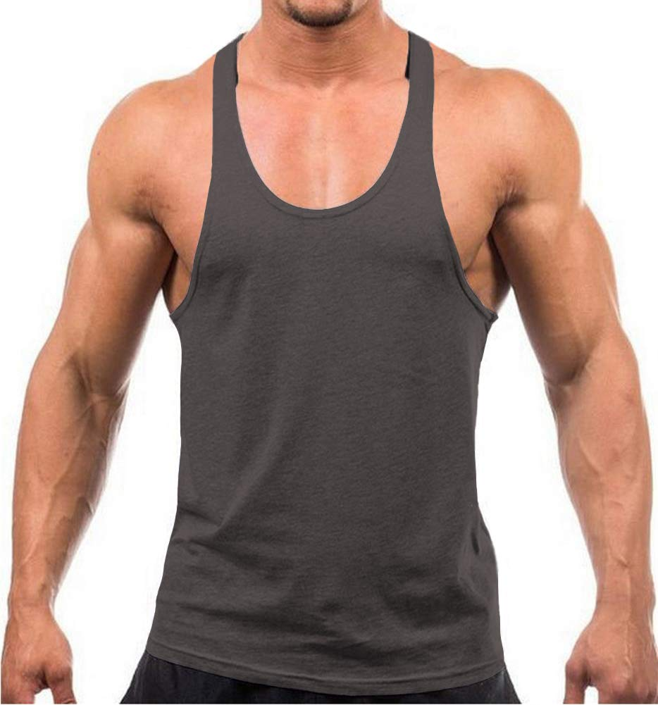 YAKER Men's Blank Stringer Y Back Bodybuilding Gym
