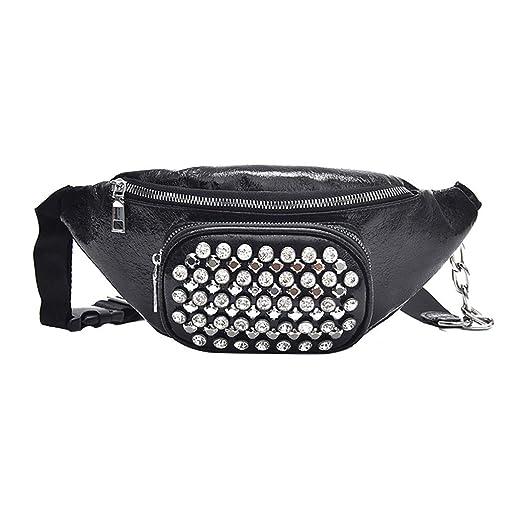 718c4eeb3f3a Amazon.com: Fashion Wasit Bag Women Simple Women Designer Leather ...