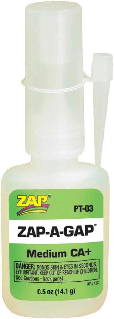Pacer Technology (Zap) Adhesivos Zap-A-Gap, 1/2 oz