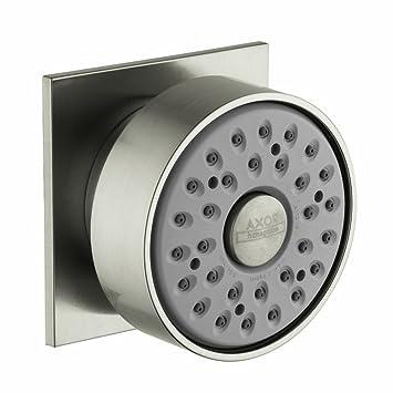 axor bodyspray with square escutcheon in chrome shower body sprayers amazoncom