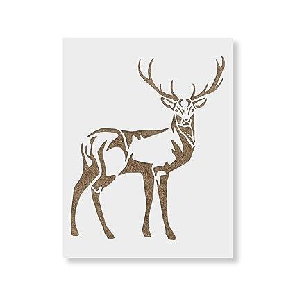 amazon com deer stencil template reusable stencil with multiple