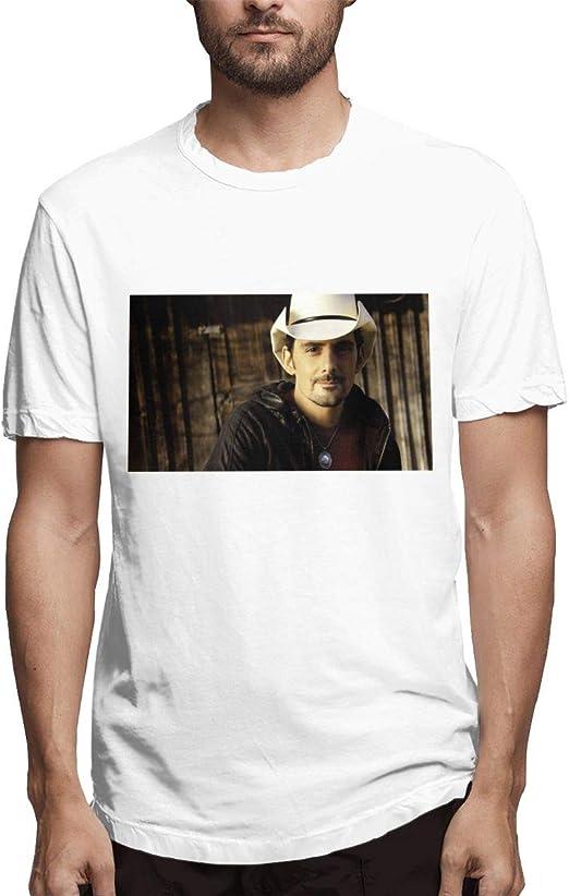 YumeeTshirt Brad Paisley - Camiseta de Manga Corta para Hombre - Negro - X-Large: Amazon.es: Ropa y accesorios