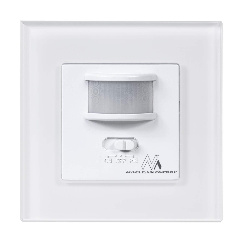 Detector de Movimiento por Infrarrojos para empotrar Maclean 58542 MCE240 Sensor crepuscular, Montaje en Pared, Rango de detecci/ón de 160/°