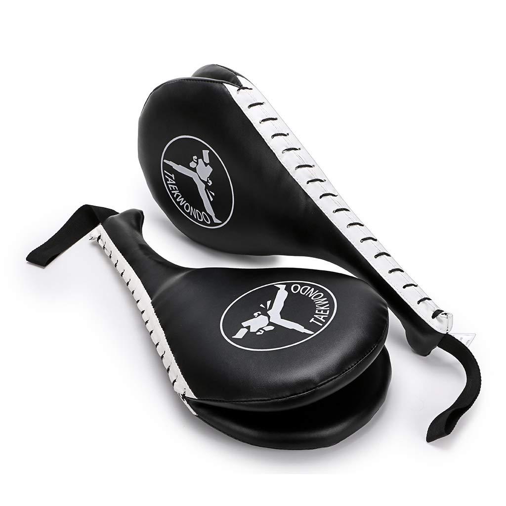 k/árate 1/par de almohadillas kickboxing MMA; pr/áctica de doble patada; equipamiento para artes marciales; palas acolchadas. mit IGNPION de entrenamiento de patadas en taekwondo