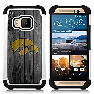 BullDog Case - FOR/HTC ONE M9 / - / Hawk Sports Team /- H??brido Heavy Duty caja del tel??fono protector din??mico - silicona suave
