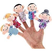 Chocozone Family Finger Puppet, Multi Color (Pack of 6) Mumma Papa Grandpa Grandma Brother Sister