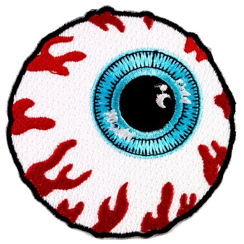 1 X MISHKA EYEBALL SKATEBOARD PATCHES EMBROIDERED # WITH FREE GIFT