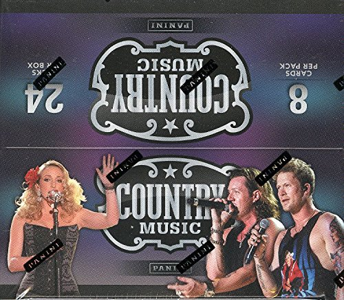Panini Country Music 2014 Factory Sealed Trading Cards Box of 24 Packs with 8 Cards per Pack