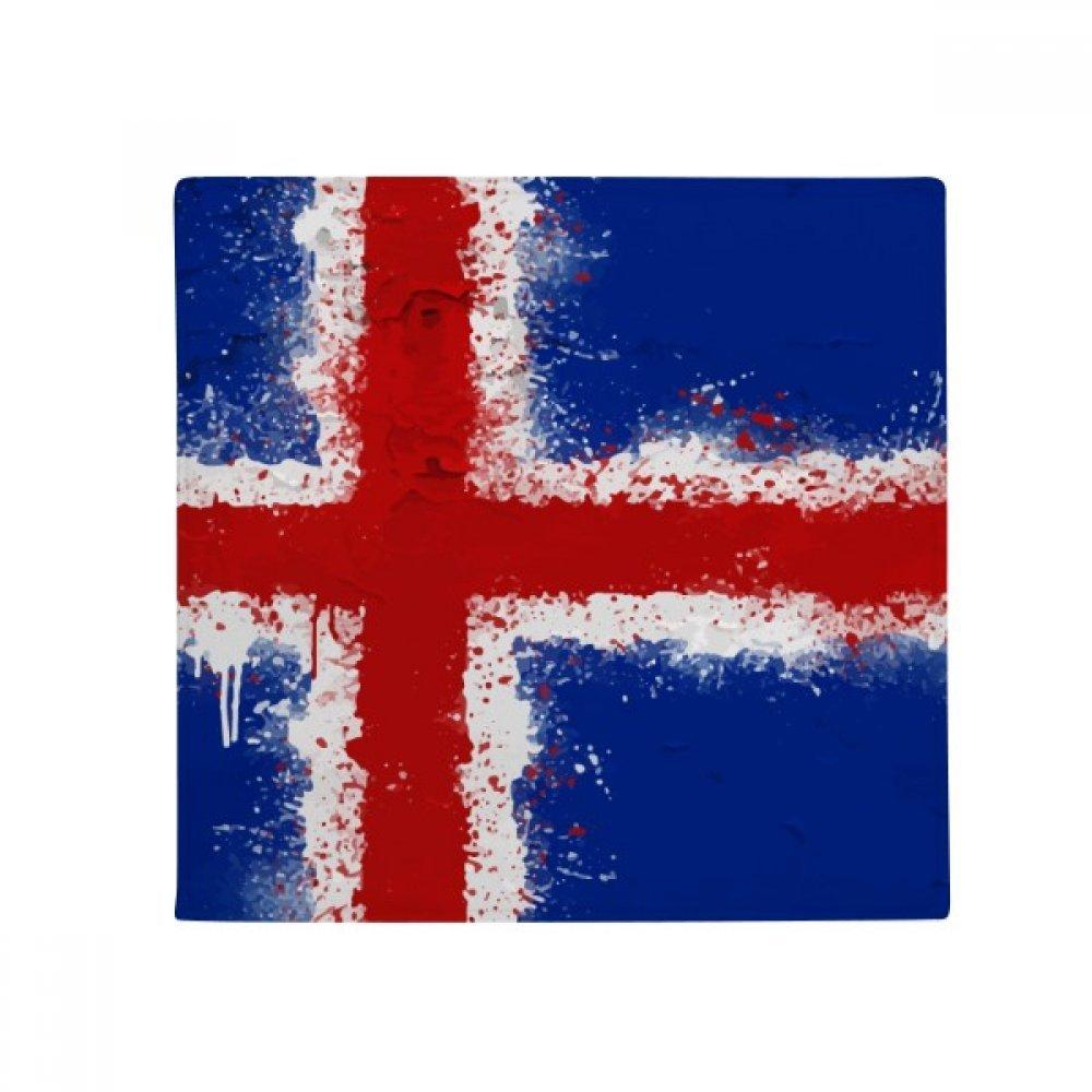 DIYthinker Iceland Abstract Flag Pattern Anti-Slip Floor Pet Mat Square Home Kitchen Door 80Cm Gift