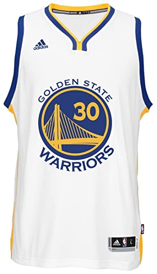 brand new f4375 fa11e adidas Stephen Curry Men's White Golden State Warriors Swingman Jersey