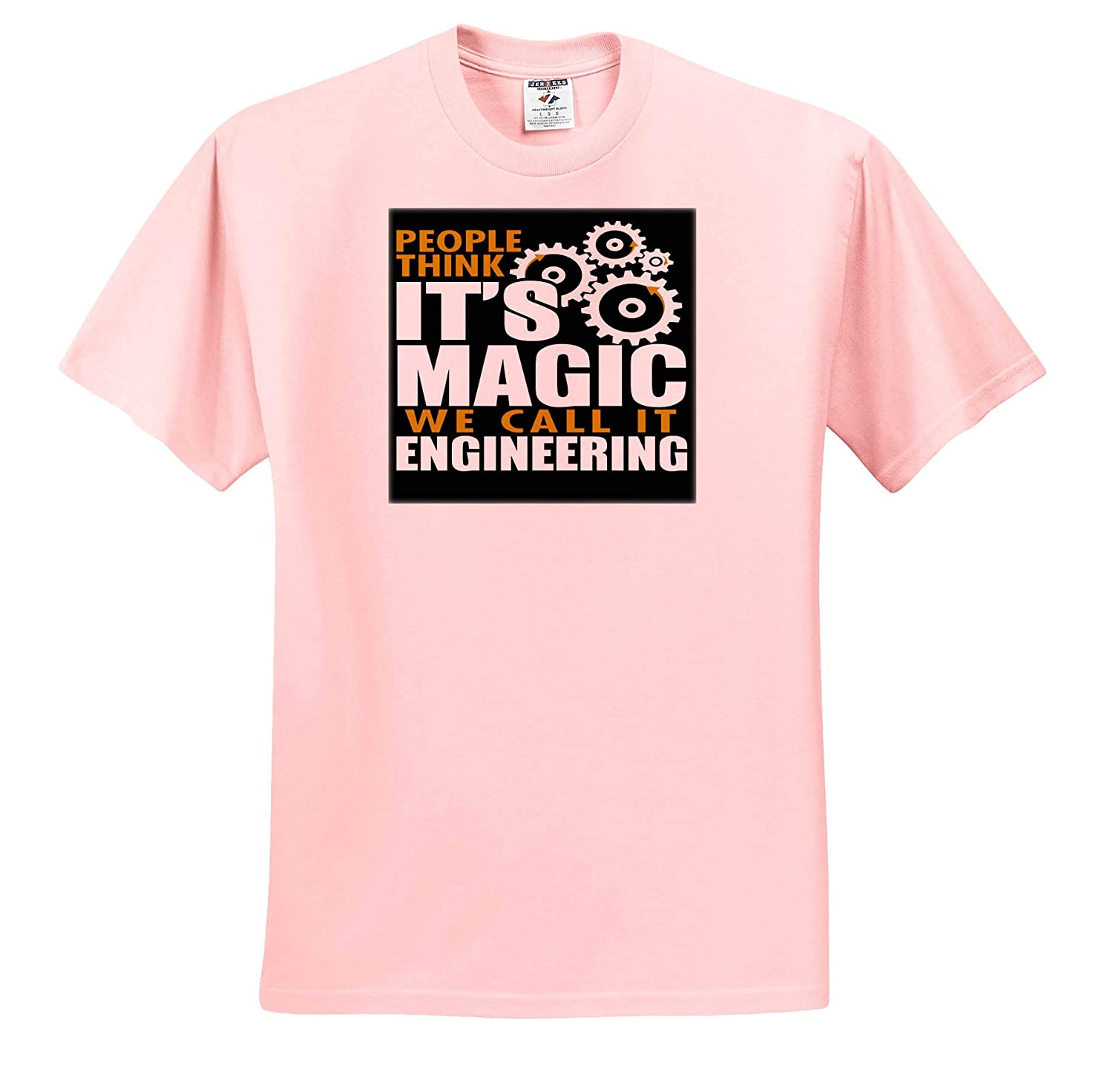 Adult T-Shirt XL ts/_319287 Quotes and Sayings 3dRose Anne Marie Baugh People Thinks Its Magic We Call It Engineering