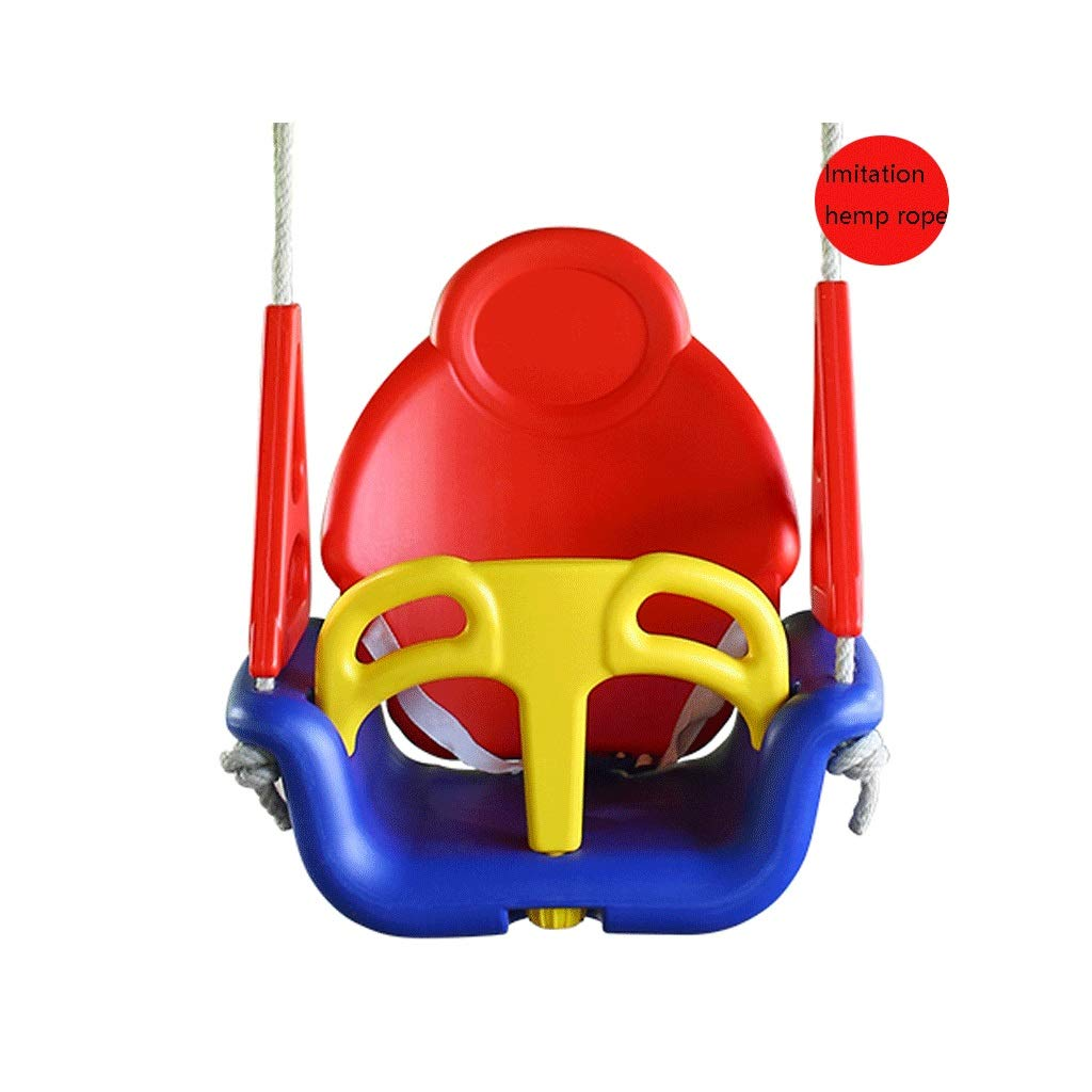 LIGONG 子供のスイングシートハイバックチャイルドベビースイング両面肥厚屋外屋内ホームスイングセットプラスチック2色28 * 24 * 50 cm (色 : Red yellow blue) B07R57KF9Z Red yellow blue