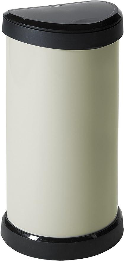 CURVER Deco Bin Cubo de Basura de 40 L Blanco