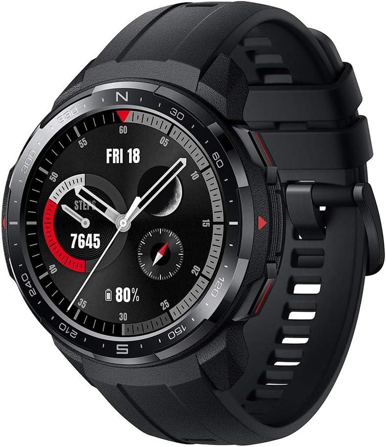HONOR Watch GS Pro Smartwatch Relojes Inteligente Mujer Hombre,25Días de Duración de la Batería, Monitoreo de SpO2 y Frecuencia Cardíaca, Notificación de Mensaje de Llamada Bluetooth GPS 5ATM,Negro