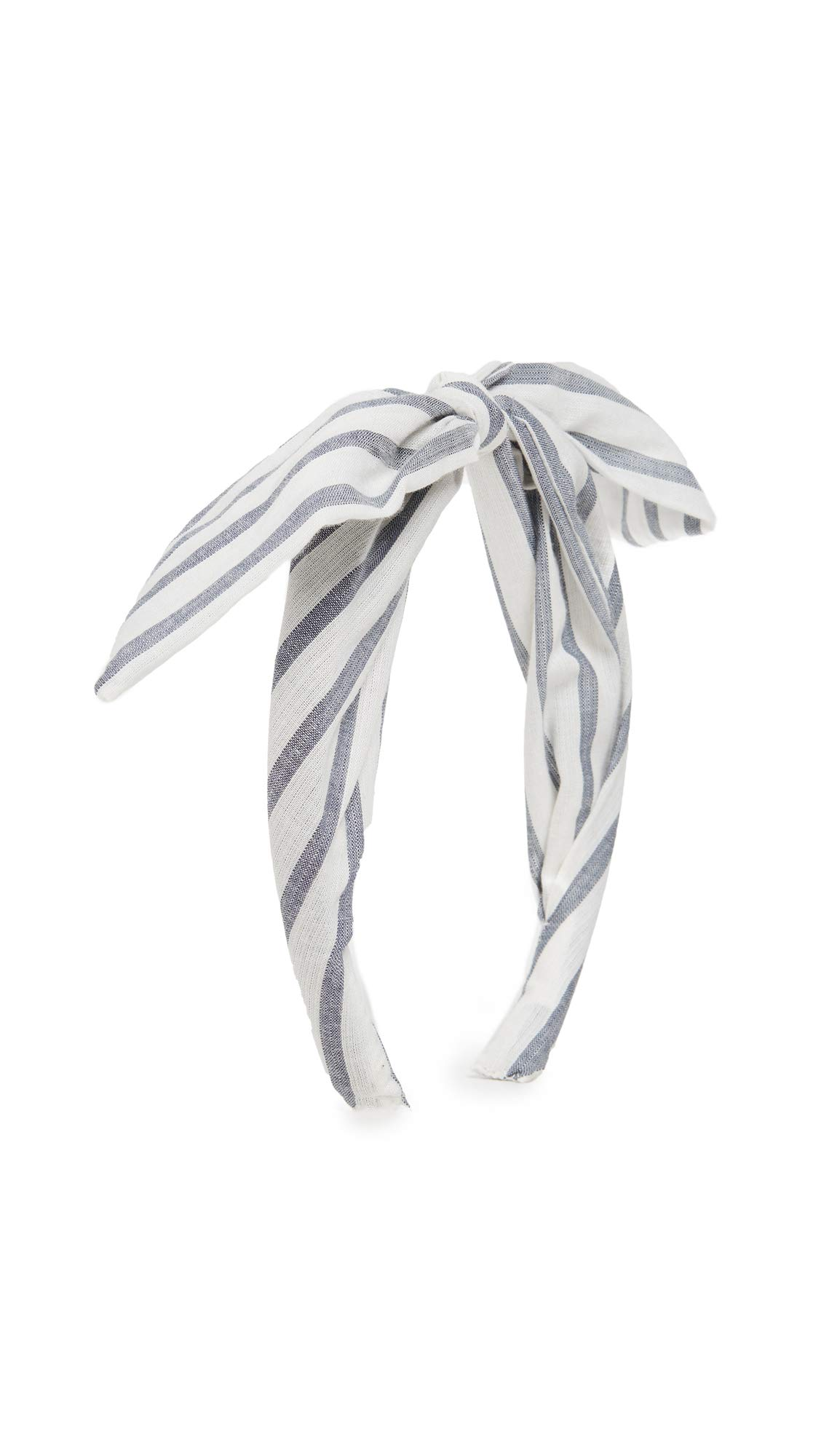 LOVESHACKFANCY Women's Pauline Headband, Cotton Stripes, One Size