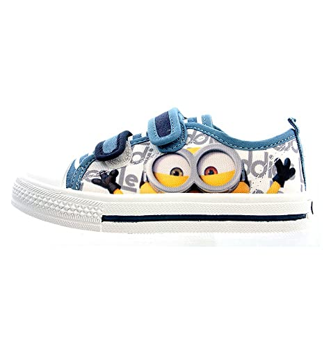 Sneakers blu con chiusura velcro per bambini Cattivissimo me Minions FDHZ91Z